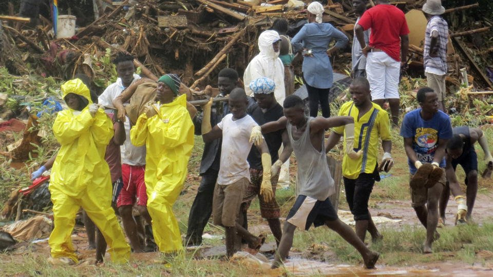 The Latest: 600 estimated missing in Sierra Leone mudslides