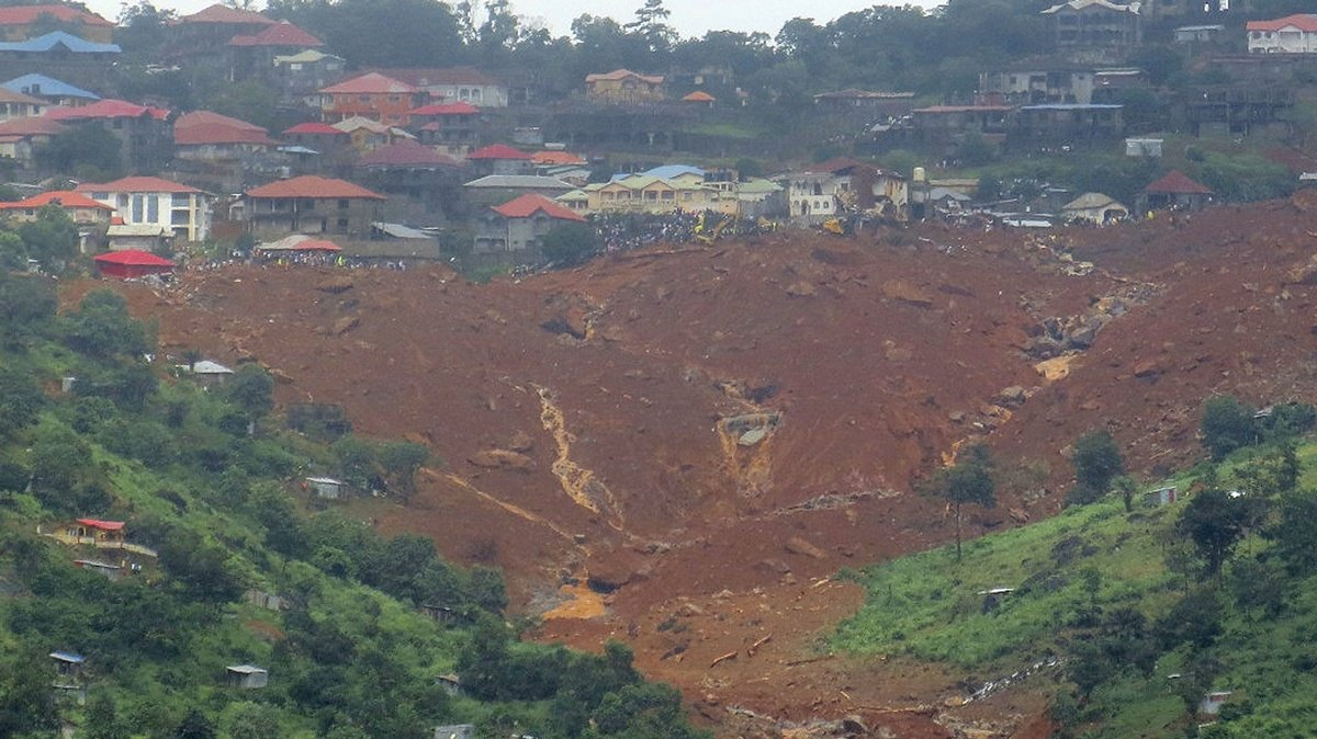 At least 600 missing after Sierra Leone mudslides 'swallowed entire communities'