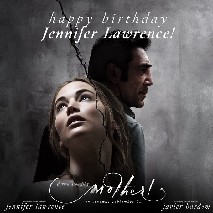 ParamountUK - Happy Birthday to Jennifer Lawrence, star of DarrenAronofsky\s new film mother!.