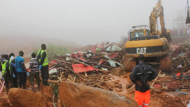 Mortuaries overwhelmed as mudslide, flooding kill more than 300 in Sierra Leone's capital