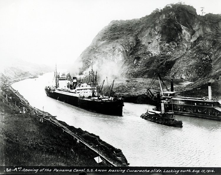 15AUG1914: Opening of the #PanamaCanal as #SSAncon made the first official transit from #AtlanticOcean to #PacificOcean, in less than 10 hrs https://t.co/a8FeQrW8q5