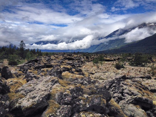 test Twitter Media - A view of the basalt rock in Nisga'a Memorial Lava Bed Park looking towards the #Nass Valley, #BritishColumbia #BC https://t.co/sn8SRsWA0F