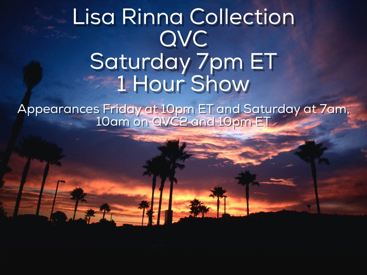 Heading back to @QVC this weekend to bring you more from my Lisa Rinna Collection! #LisaRinnaCollection https://t.co/trccDjNnSt