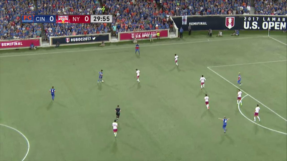 RT @fccincinnati: WATCH: Corben Bone strikes first for #FCCincy in the 31' vs The NY Red Bull! #CINvNY https://t.co/Ff48wC2sqG