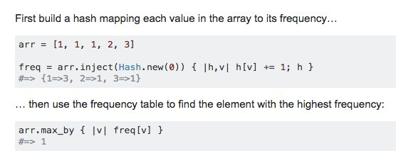 How to find item in array which has the most occurrences in #Ruby? https://t.co/q9FW3fT7nm @Stackoverflow https://t.co/FmUL7CrH02