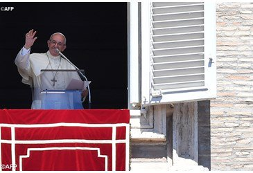 Pope Francis prays Angelus for Solemnity of the Assumption
