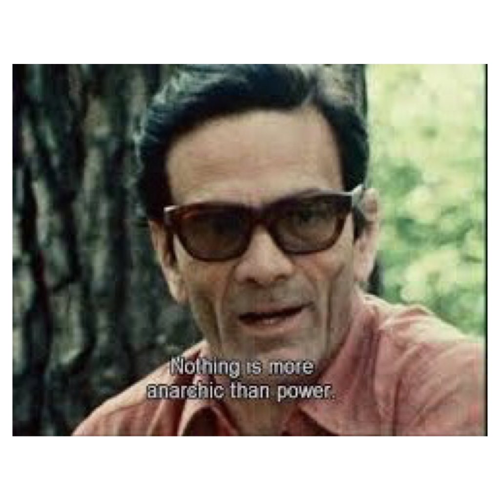"""Nothing is more anarchic than power. Power does what it wants."" Pier Paolo Pasolini #lottacontinua #history"