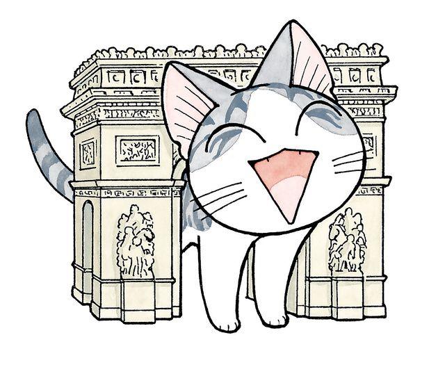 猫のいる家庭の何げない日常を描いたアニメ「こねこのチー」が、フランスで大人気です。原作漫画の売り上げは、ドラゴンボールや
