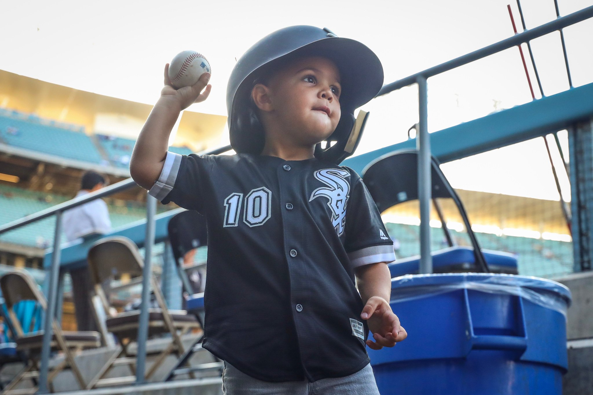 Mini Moncada is ready to #PlayBall. https://t.co/LgIUcokgzO