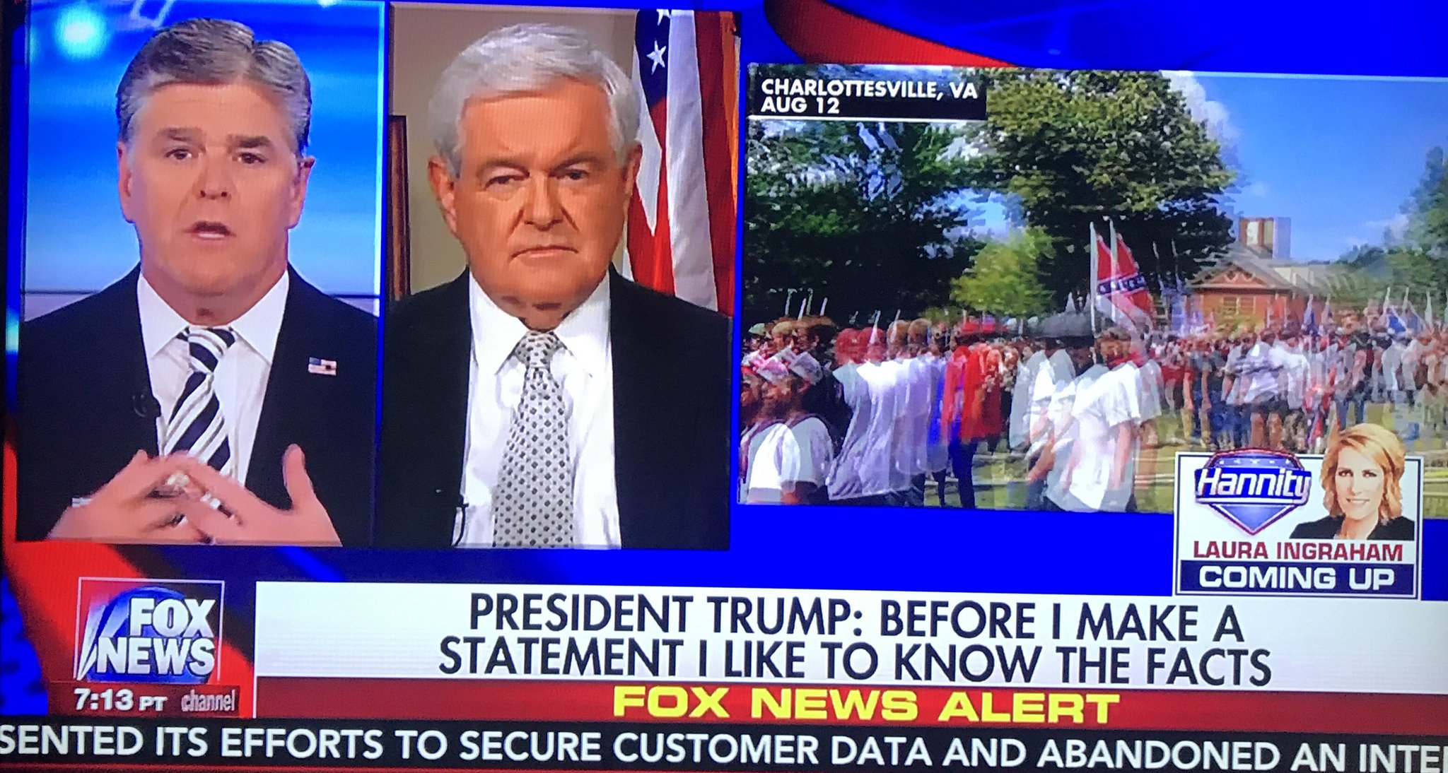 Gingrich tells Hannity: 'Most of the violence we have seen this year has been on the left.' https://t.co/uOC9eOhMTB
