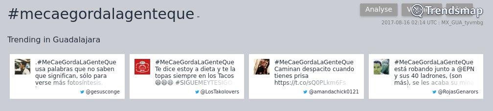 #mecaegordalagenteque es ahora una tendencia en #Guadalajara  https://t.co/isv7hmb5Kd https://t.co/Kbu2G0XoOC