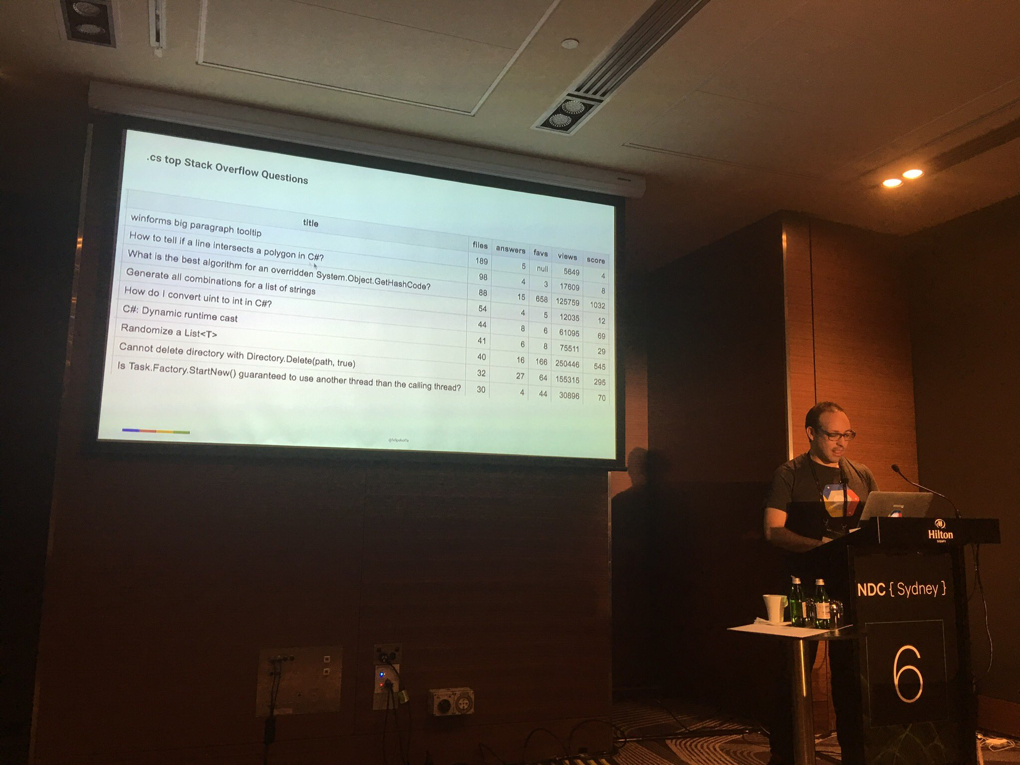 Linking @github with @StackOverflow questions #BigData #ndcSydney https://t.co/6NR3RToMRw