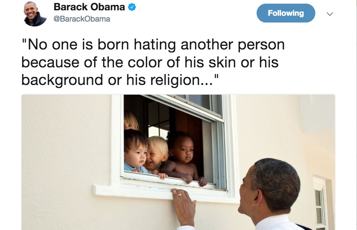 Barack Obama's post Charlottesville tweet becomes most-liked ever