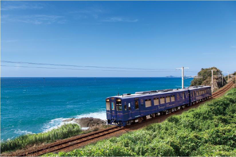 海岸沿いを走るレストラン「おれんじ食堂」に乗ろう🛤熊本と鹿児島を走る列車「おれんじ食堂」。沿線の旬食材をたっぷり使ったお