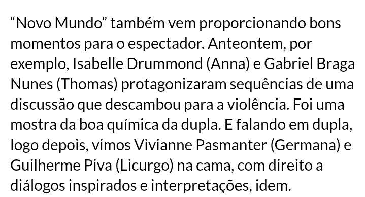 #NovoMundo