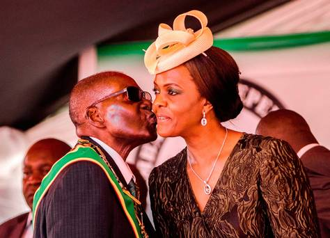 Robert Mugabe's wife back in Zimbabwe after 'beating model with extension cord'