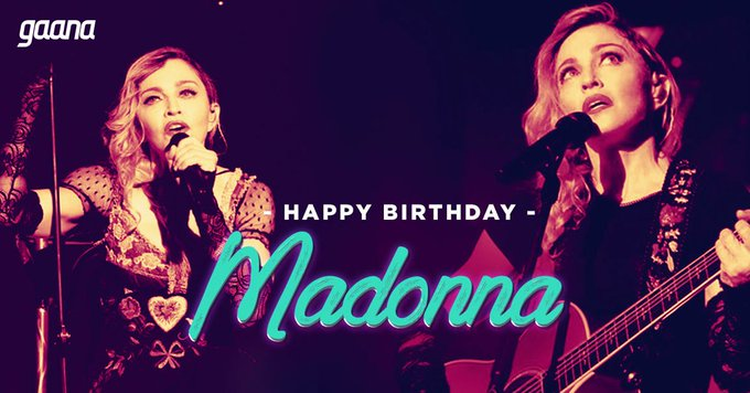 Wishing the \Queen Of Pop\, a very Happy Birthday! Play her hits here: