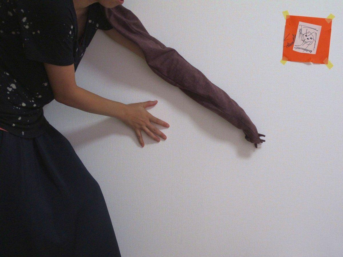 【ヌタウナギのヌッちゃん】nuwasuの手がヌッちゃんに!寄生獣みたいでかわいい!左手なのでヒダリー!