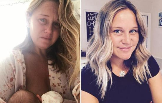 Struggling mum shares a powerful breastfeeding photo which lays bare the brutal reality of nursing for many women