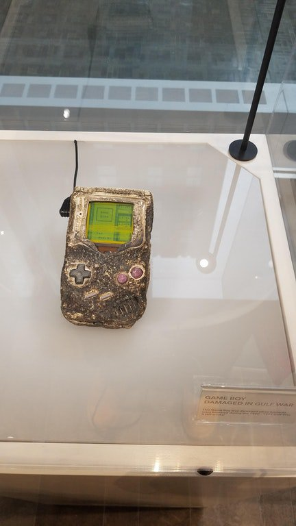 This GameBoy survived the Gulf War. Its owner wasn't so lucky #RIP (#Nintendo World NYC) https://t.co/22t6XSQ1ls