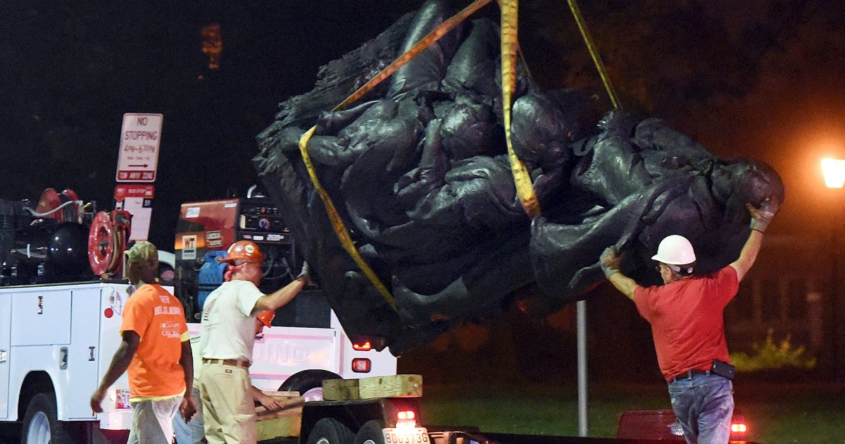 Baltimore Just Took Down All of Its Confederate Statues Overnight
