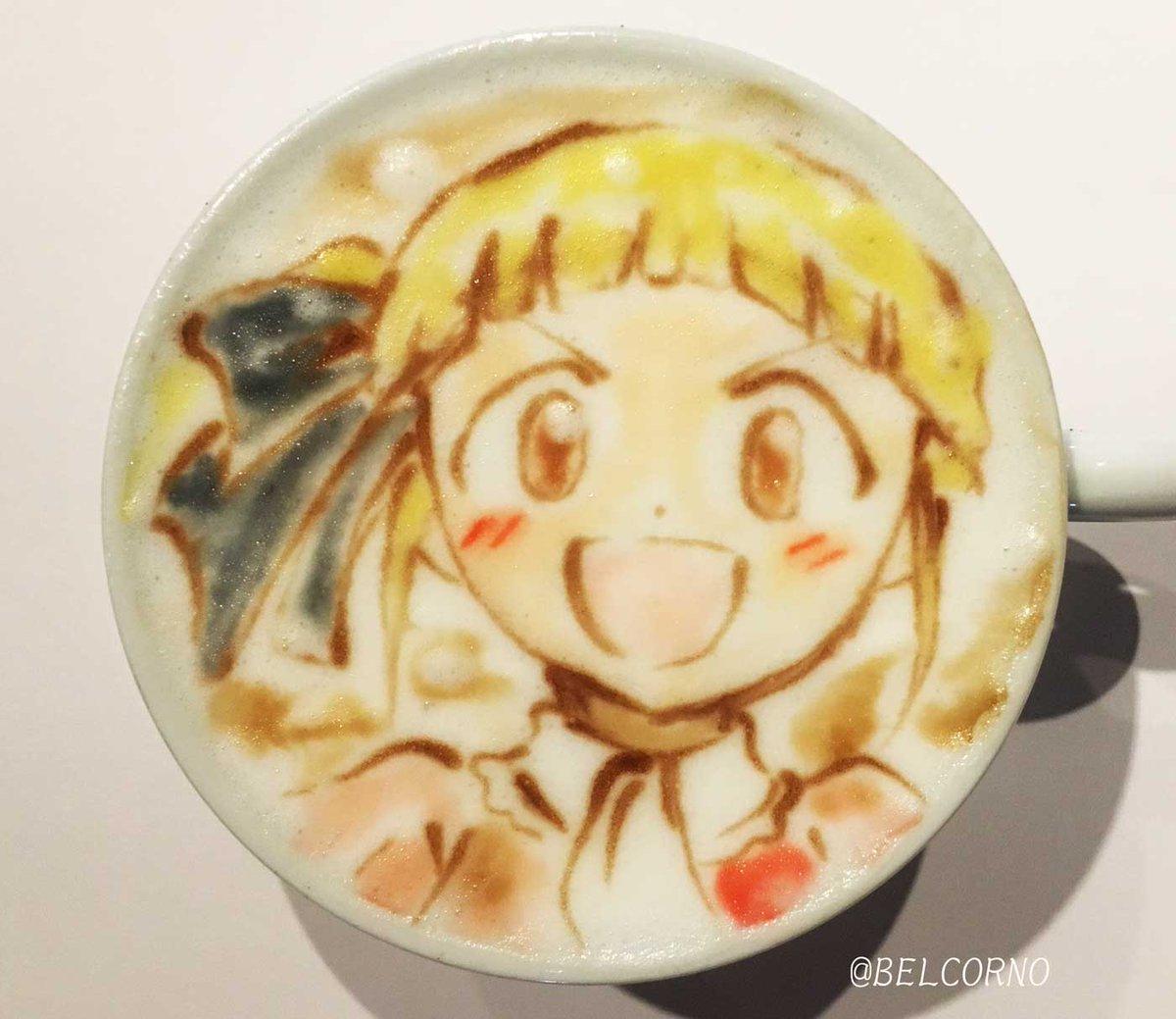 ラテアート【樫村紗名】@アリスと蔵六LatteArt【Sana Kashimura】#アリスと蔵六 #alizou