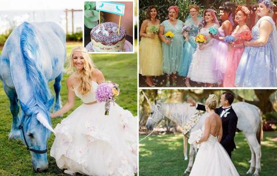Unicorn themed WEDDINGS are now a thing... and everyone's going mad for the colourful marriage ceremonies