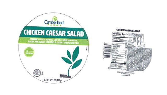 Cumberland Farms Recalls Chicken Caesar Salad