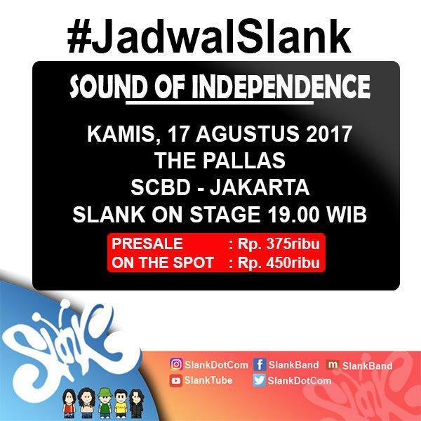 BESOK!!! Kita rayakan kemerdekaan Indonesia #RI72 di The Pallas   Ayo #ngeSlankRameRame #17an bareng #Slank https://t.co/6ux2H9j8Dx