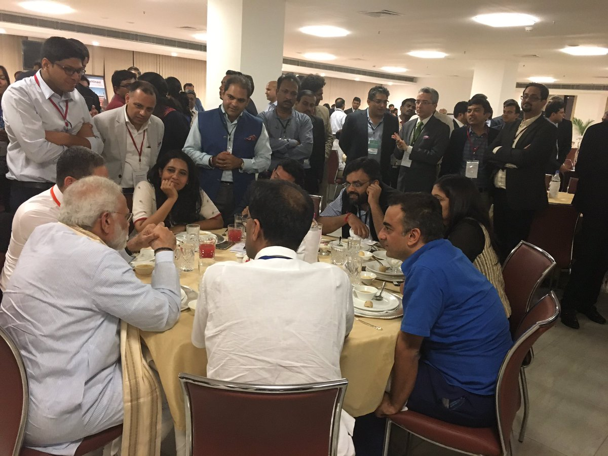 test Twitter Media - #ChampionsofChange  @narendramodi in conversation with young entrepreneurs & startup founders at #Niti's event. https://t.co/yG5hkpz0HY