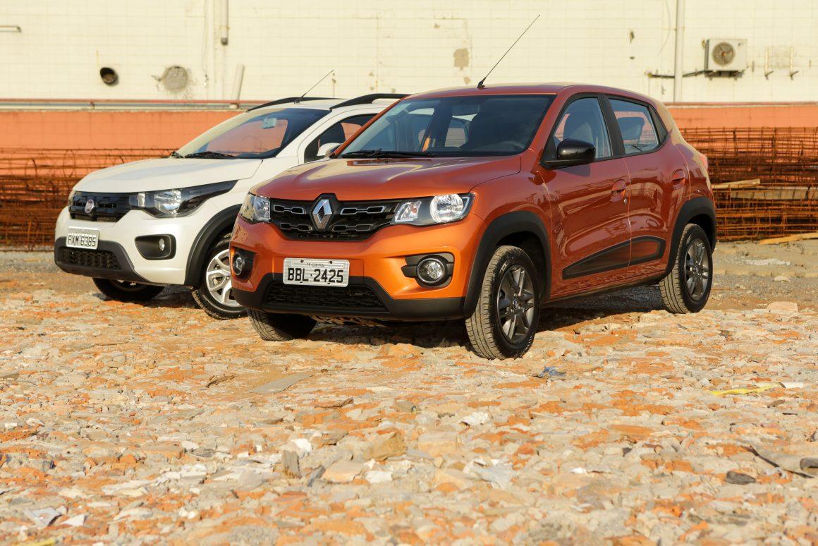Renault Kwid encara Fiat Mobi em duelo de aventureiros urbanos