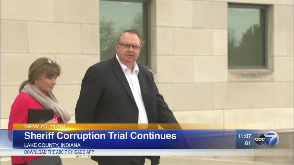Public corruption trial of Lake County sheriff continues