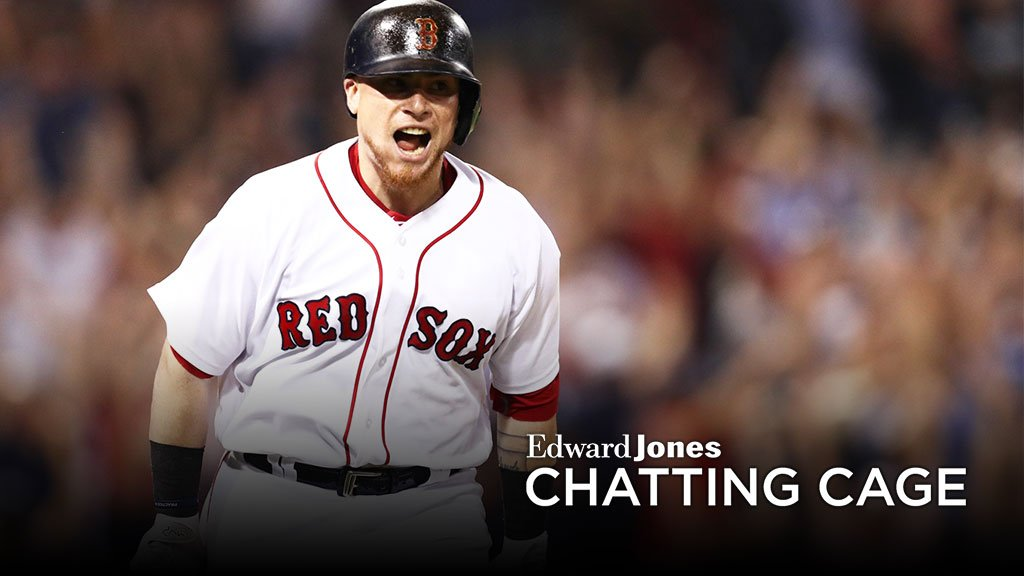 Christian Vazquez takes his cuts in the @EdwardJones #ChattingCage. Ask your questions NOW: https://t.co/XFywszKNFp https://t.co/zwsgmejRve