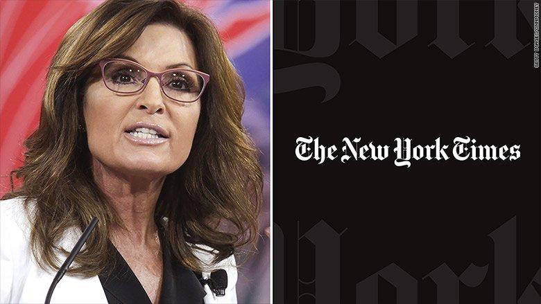 New York Times editor testifies in Sarah Palin lawsuit