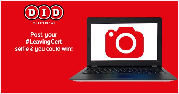 Send us a selfie w/ your #LeavingCert results and you could win a Lenovo Ideapad! #giveaway #competition https://t.co/gjCne3xHfg