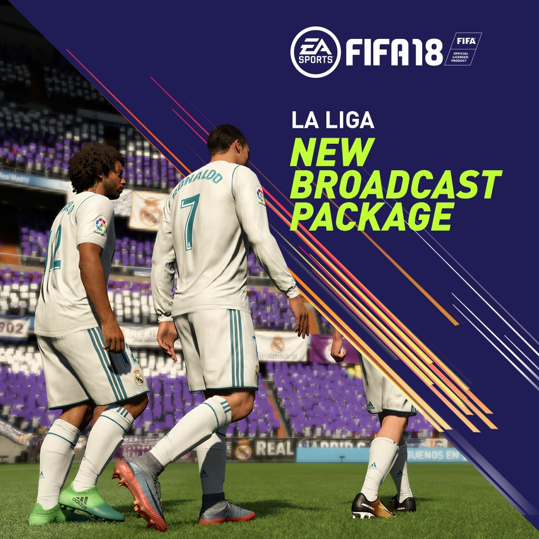 Our new @LaLiga broadcast package live from the Bernabéu #FIFA18 @realmadrid @atleti https://t.co/iNCEaOuyV6