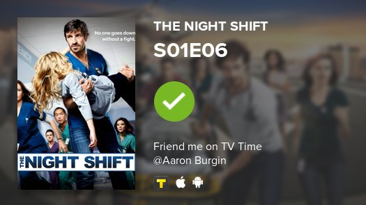 I've just watched episode S01E06 of The Night Shift! #nightshift  https://t.co/cX3k8eaSyU #tvtime https://t.co/TjTRnjUESB