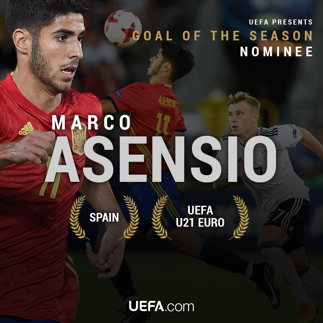 Asensio is also a UEFA #GoalOfTheSeason nominee.  Watch that golazo & vote here �� https://t.co/2ydU77exsp https://t.co/RuJaHnecdi