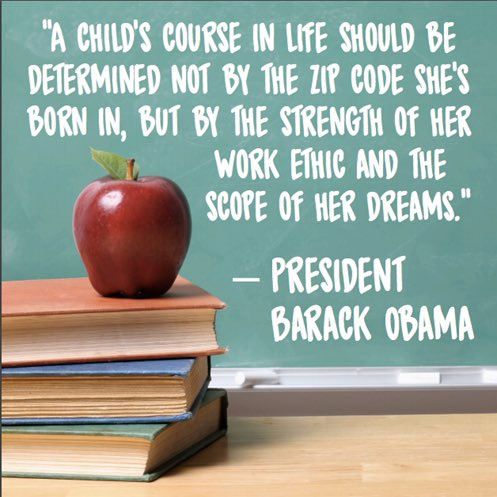 test Twitter Media - I stand with President Obama in the belief that a child's course in life should NOT be determined by the zip code she's born in!!! https://t.co/3MoQG2ogzR