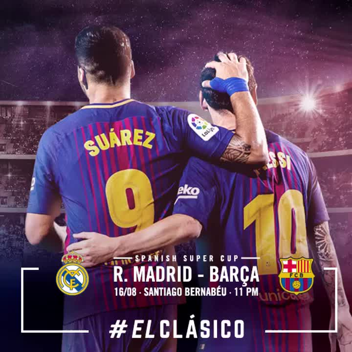 �� Final del primer temps Reial Madrid 2-0 FC Barcelona ���� #ElClásico https://t.co/f9CwcFKhw4