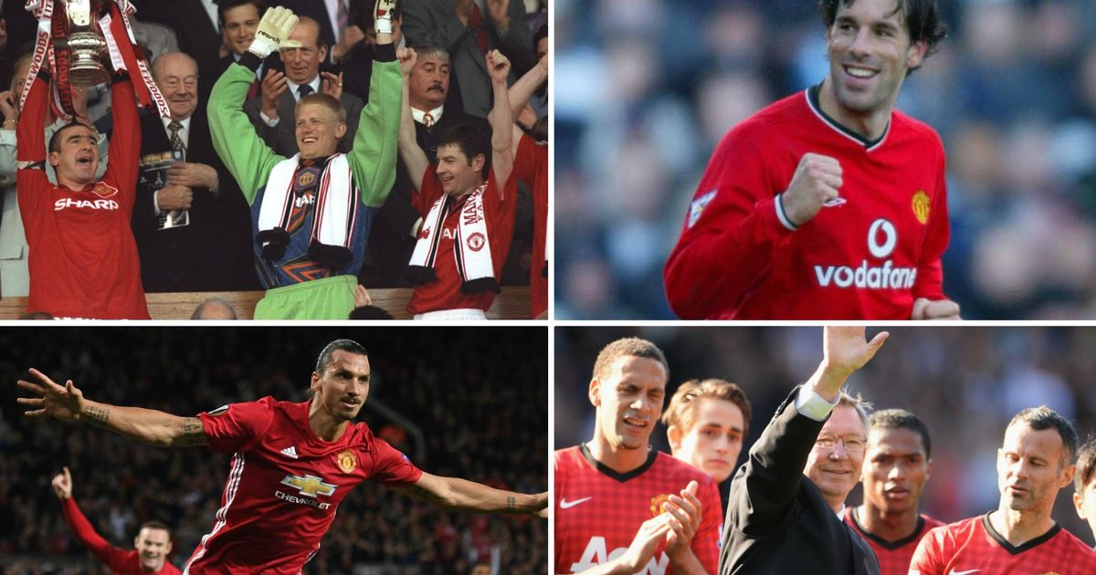 All the Manchester United home kits of the Premier League era pictured