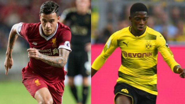 Barcelona close to signing Liverpool's Philippe Coutinho and Dortmund's Ousmane Dembele