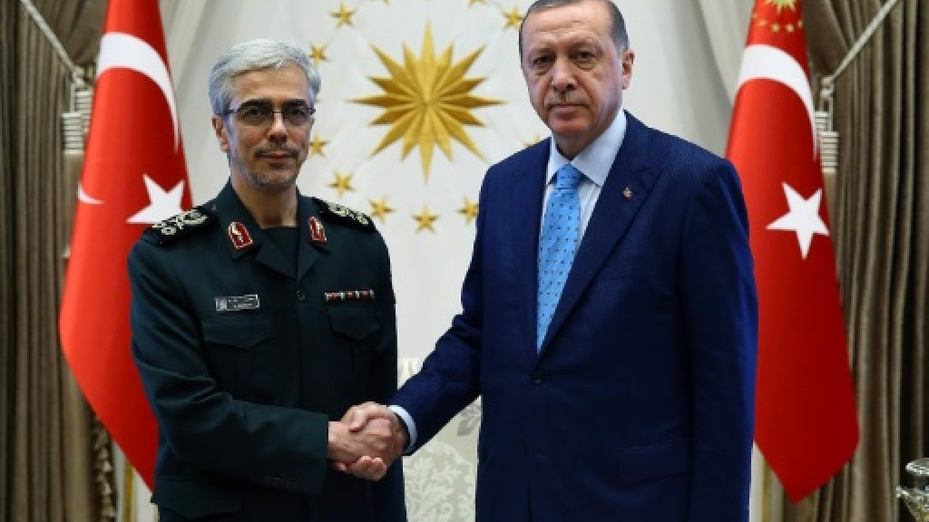 Iran forces chief holds rare talks with Erdogan