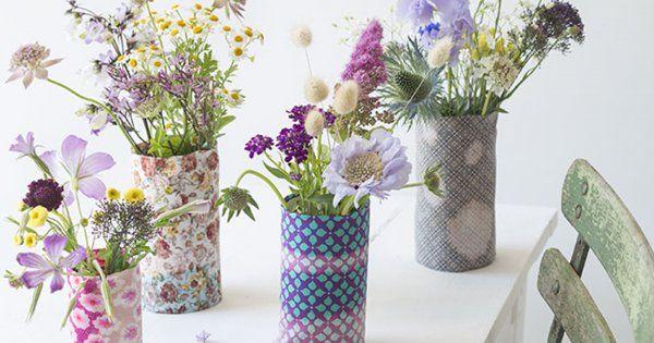 Réaliser des housses de vase personnalisées avec de l'eau de javel
