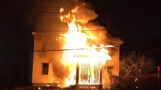 Large fire tears through Metheun home