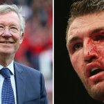 Manchester United great Alex Ferguson gives boxer Hughie Fury some expert advice