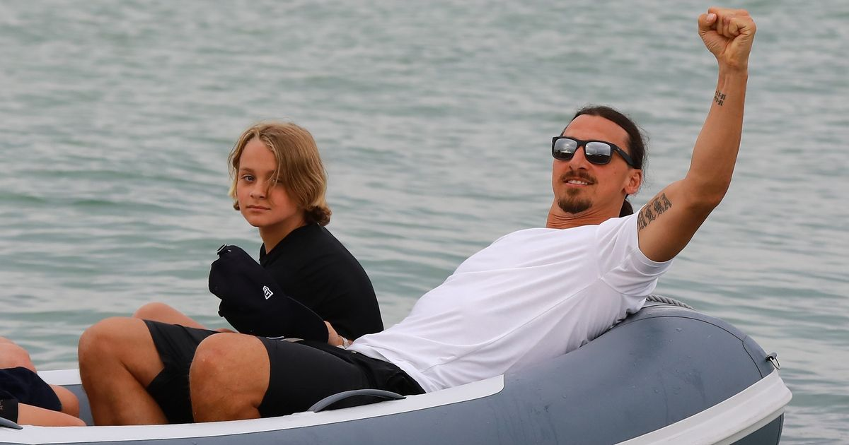 Zlatan Ibrahimovic relaxes in St Tropez as Man United 'ponder potential coaching role' for Swede