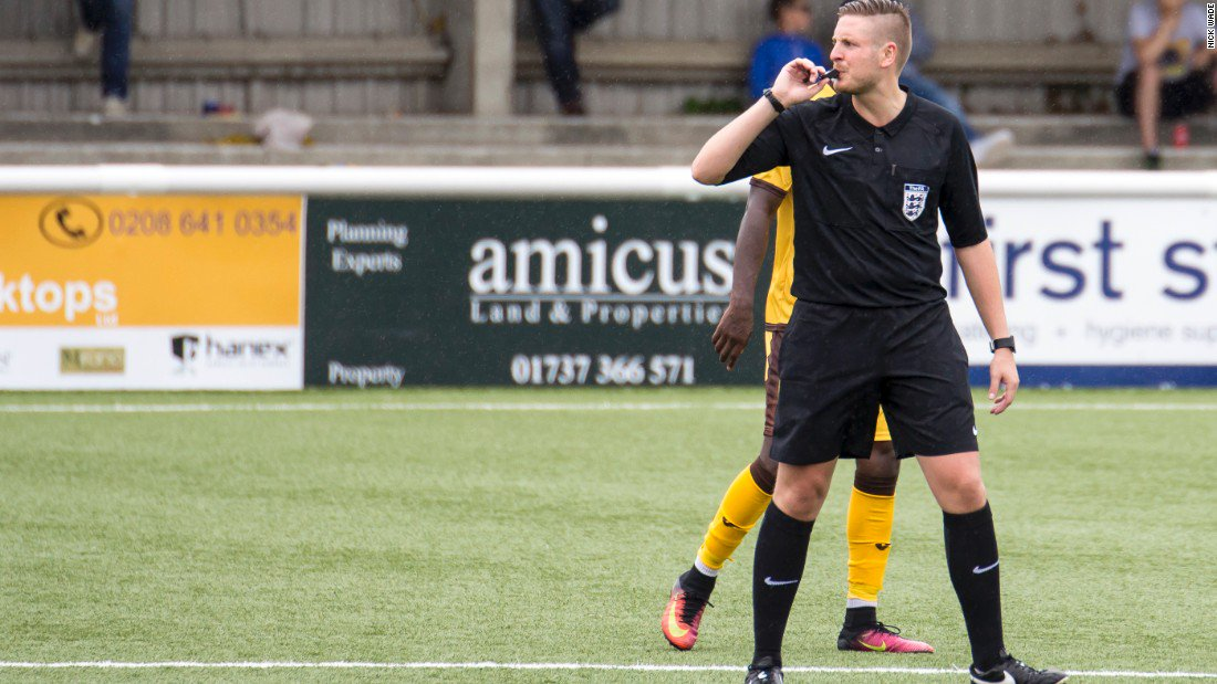 """England's first openly gay referee says he came out """"because football needs it"""""""
