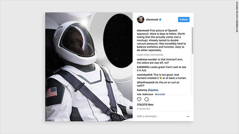 SpaceX has teased a chic new spacesuit