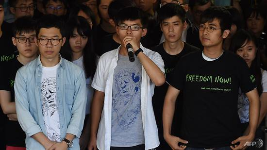 Hong Kong activist Joshua Wong sentenced to 6 months' jail for 2014 protests